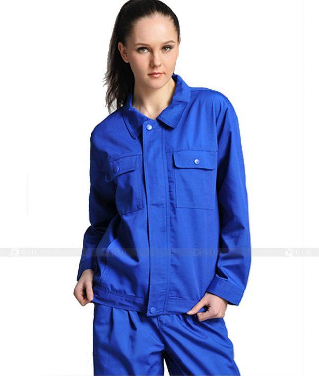 Dong phuc cong nhan GLU CN817 mẫu áo công nhân