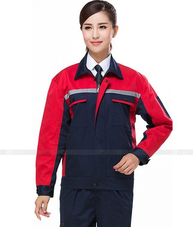 Dong phuc cong nhan GLU CN847 2 mẫu áo công nhân