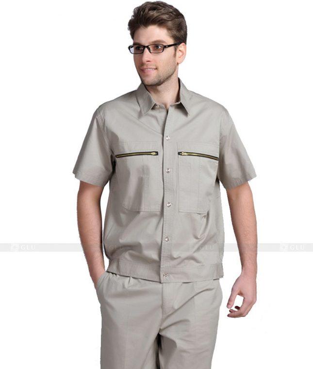 Dong phuc cong nhan GLU CN856 mẫu áo công nhân