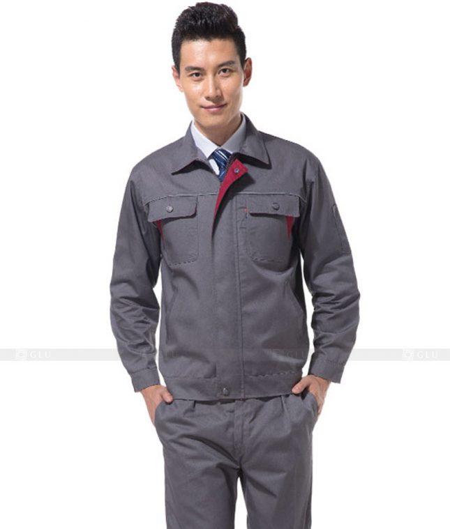 Dong phuc cong nhan GLU CN858 mẫu áo công nhân