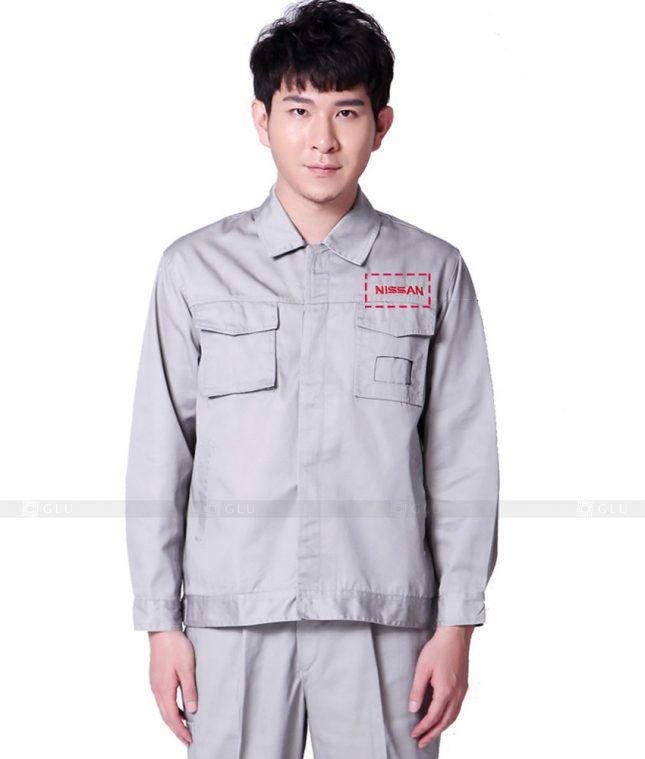Dong phuc cong nhan GLU CN862 mẫu áo công nhân