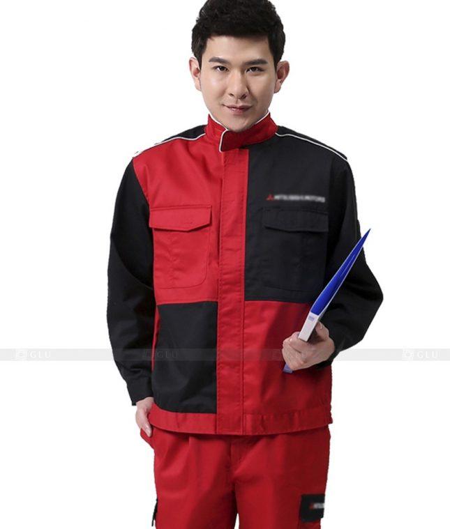 Dong phuc cong nhan GLU CN863 mẫu áo công nhân