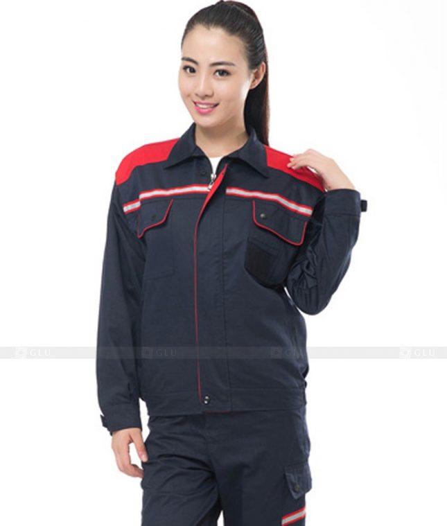 Dong phuc cong nhan GLU CN865 mẫu áo công nhân
