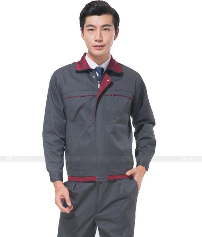Dong phuc cong nhan GLU CN875 mẫu áo công nhân
