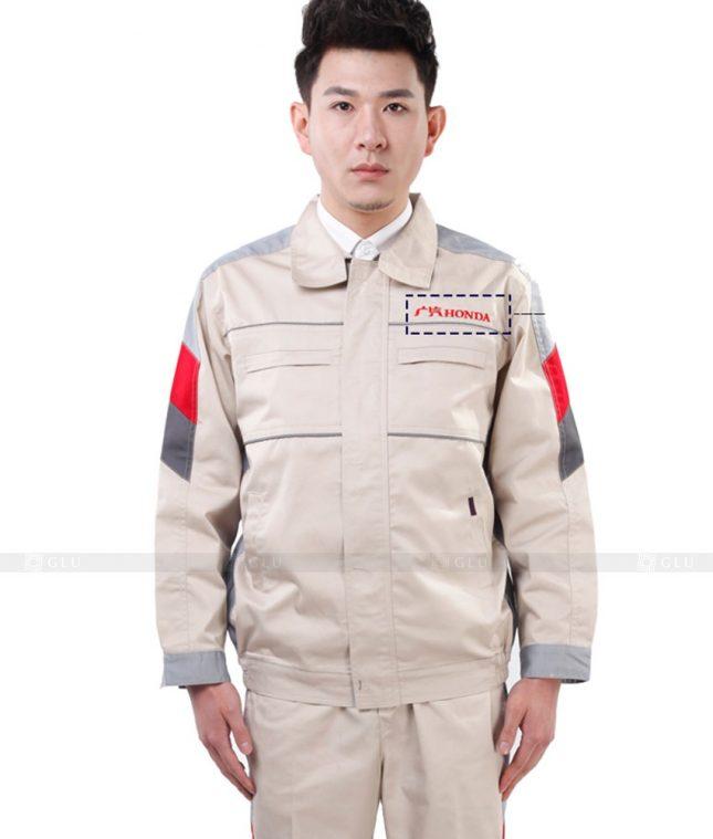 Dong phuc cong nhan GLU CN879 mẫu áo công nhân