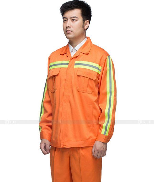 Dong phuc cong nhan GLU CN880 mẫu áo công nhân