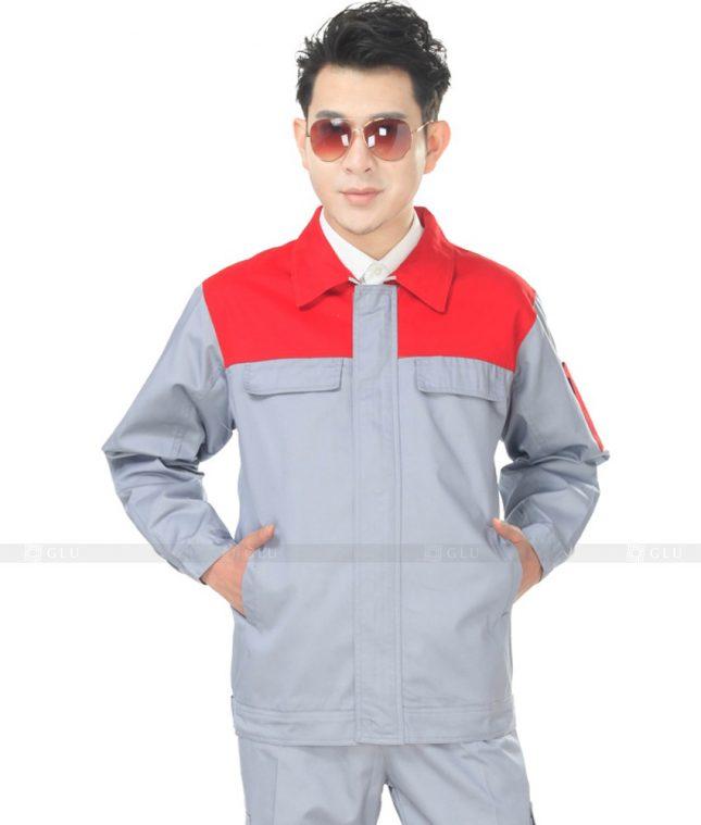 Dong phuc cong nhan GLU CN881 mẫu áo công nhân