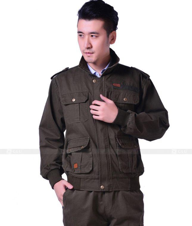 Dong phuc cong nhan GLU CN883 mẫu áo công nhân