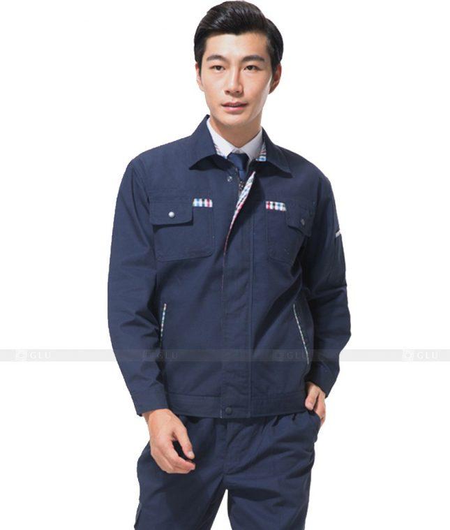 Dong phuc cong nhan GLU CN884 mẫu áo công nhân