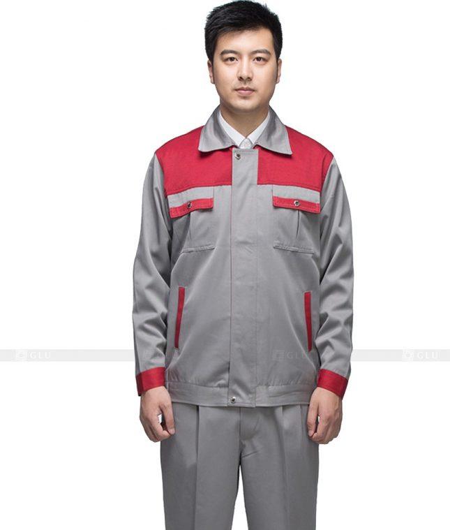 Dong phuc cong nhan GLU CN885 mẫu áo công nhân