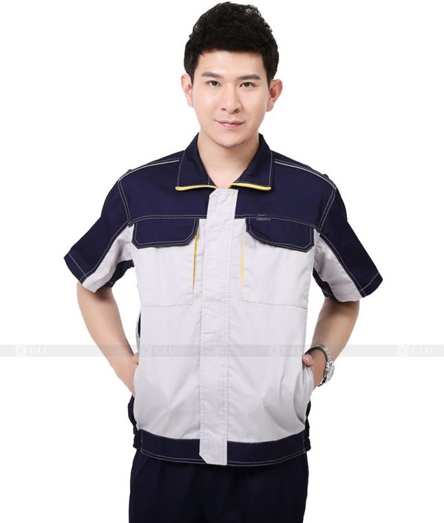 Dong phuc cong nhan GLU CN886 mẫu áo công nhân