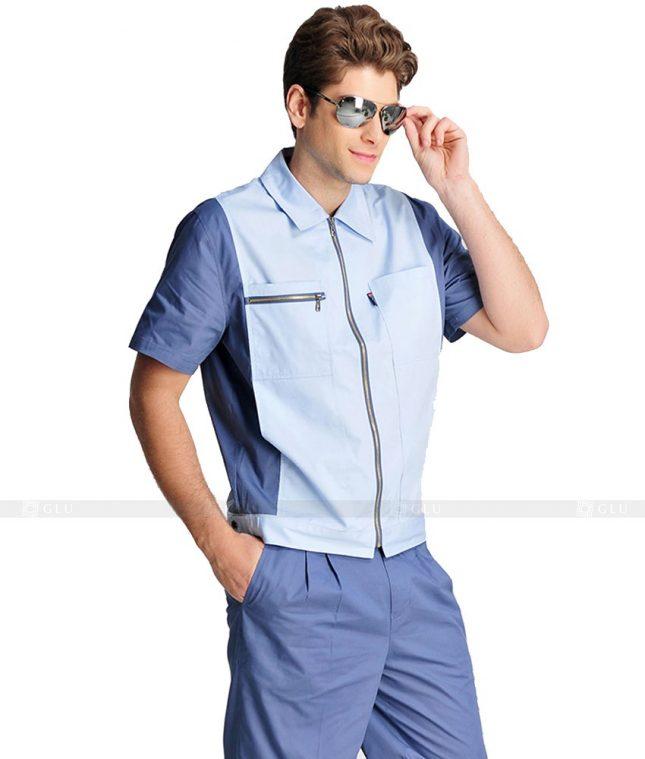 Dong phuc cong nhan GLU CN931 mẫu đồng phục công nhân