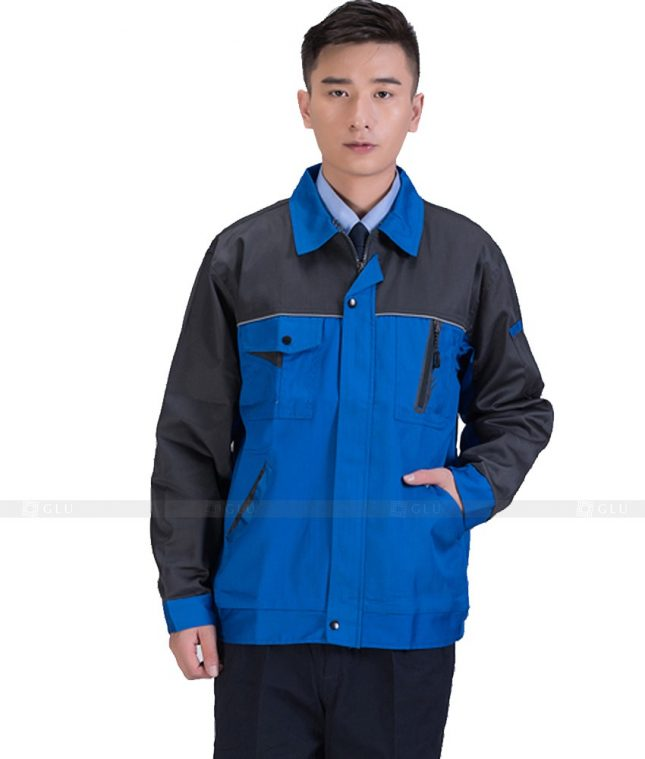 Dong phuc cong nhan GLU CN938 mẫu đồng phục công nhân