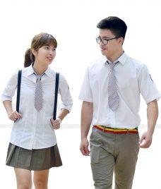 Dong phuc hoc sinh GLU 02 may đồng phục học sinh