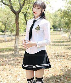 Dong phuc hoc sinh GLU 14 may đồng phục học sinh