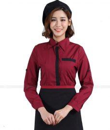 Dong phuc quan caphe GLU CF41 áo đồng phục cà phê