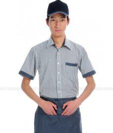 Dong phuc quan caphe GLU CF45 áo đồng phục cà phê