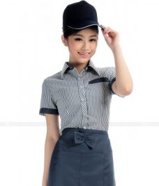Dong phuc quan caphe GLU CF46 áo đồng phục cà phê