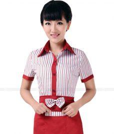 Dong phuc quan caphe GLU CF61 áo đồng phục cà phê