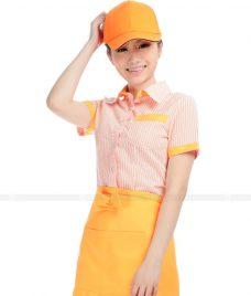 Dong phuc quan caphe GLU CF62 áo đồng phục cà phê