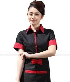 Dong phuc quan caphe GLU CF63 áo đồng phục cà phê