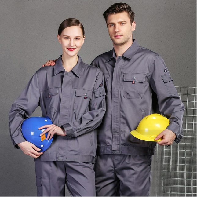 Quan ao dong phuc bao ho GLU X1004 đồng phục công nhân cơ khí