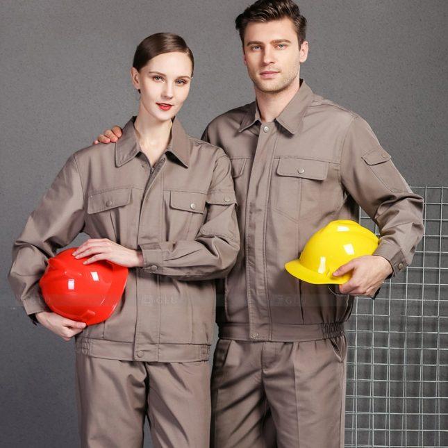 Quan ao dong phuc bao ho GLU X1009 đồng phục công nhân cơ khí