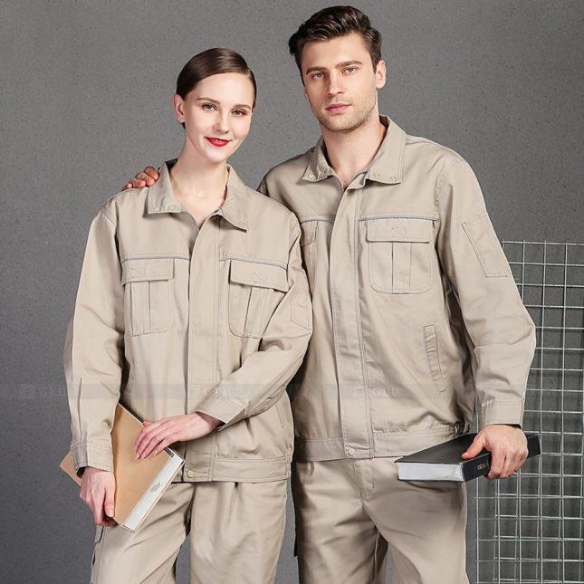 Quan ao dong phuc bao ho GLU X1011 đồng phục công nhân cơ khí