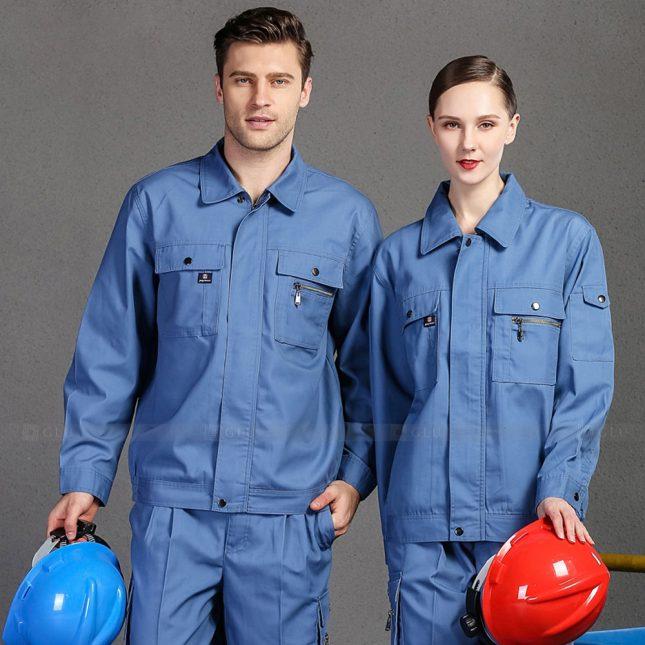 Quan ao dong phuc bao ho GLU X1013 đồng phục công nhân cơ khí