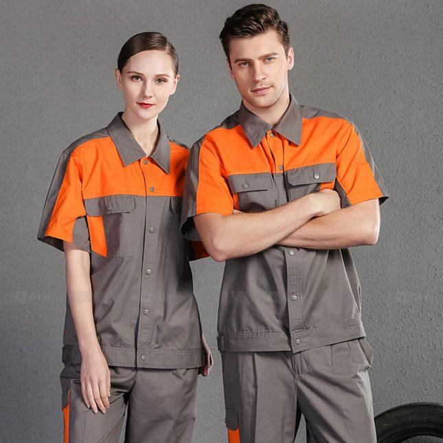 Quan ao dong phuc bao ho GLU X1014 đồng phục công nhân cơ khí