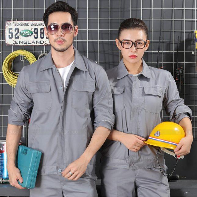 Quan ao dong phuc bao ho GLU X1016 đồng phục công nhân cơ khí
