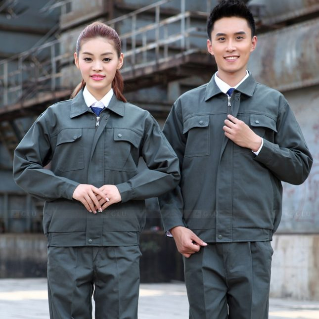 Quan ao dong phuc bao ho GLU X1020 đồng phục công nhân cơ khí