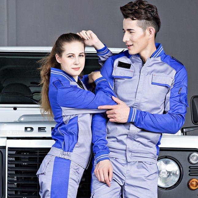 Quan ao dong phuc bao ho GLU X1023 đồng phục công nhân cơ khí