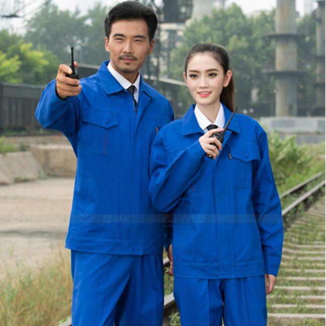 Quan ao dong phuc bao ho GLU X1024 đồng phục công nhân cơ khí
