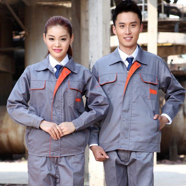 Quan ao dong phuc bao ho GLU X1025 đồng phục công nhân cơ khí