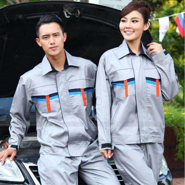 Quan ao dong phuc bao ho GLU X1027 đồng phục công nhân cơ khí