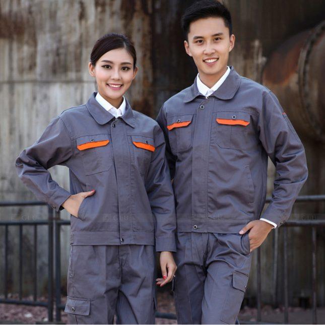 Quan ao dong phuc bao ho GLU X1030 đồng phục công nhân cơ khí