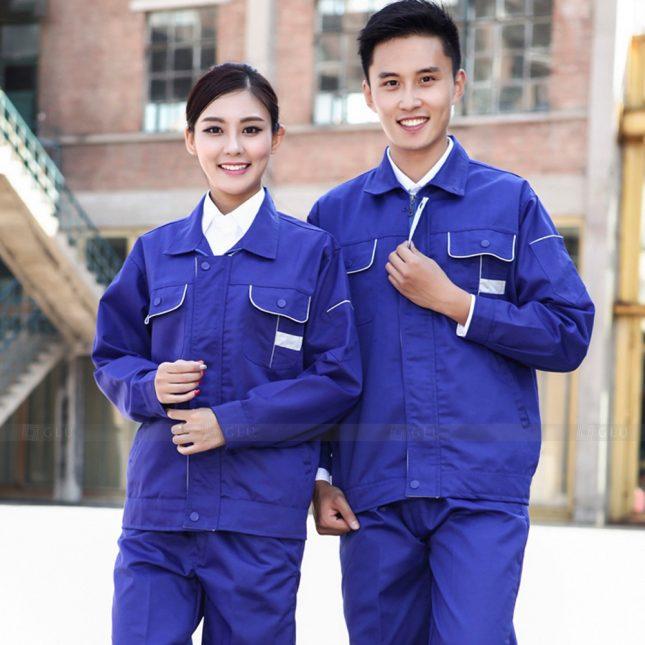 Quan ao dong phuc bao ho GLU X1035 đồng phục công nhân cơ khí