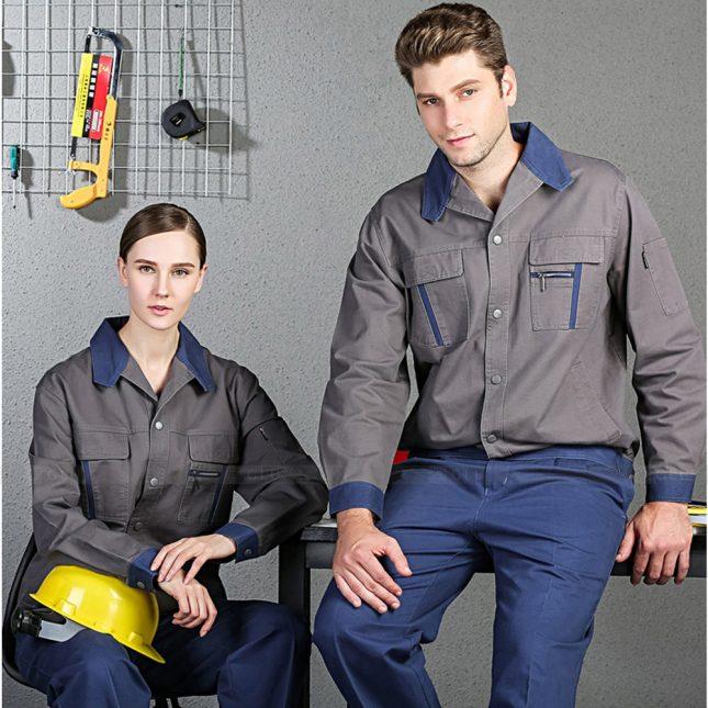 Quan ao dong phuc bao ho GLU X1036 đồng phục công nhân cơ khí