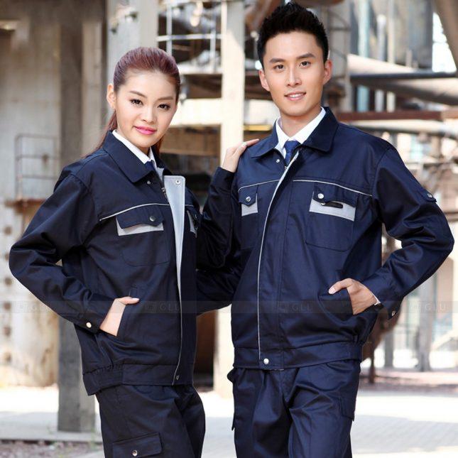 Quan ao dong phuc bao ho GLU X1040 đồng phục công nhân cơ khí