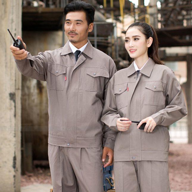 Quan ao dong phuc bao ho GLU X1042 đồng phục công nhân cơ khí