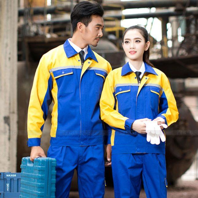 Quan ao dong phuc bao ho GLU X1043 đồng phục công nhân cơ khí