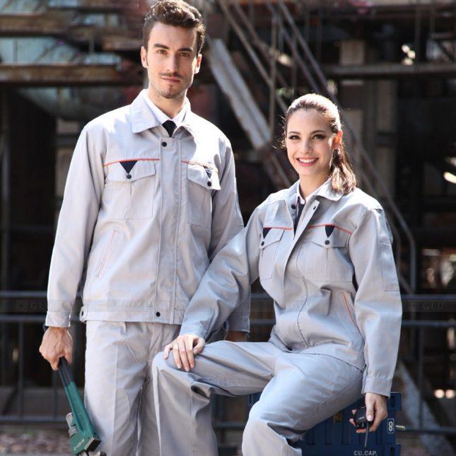 Quan ao dong phuc bao ho GLU X1044 đồng phục công nhân cơ khí