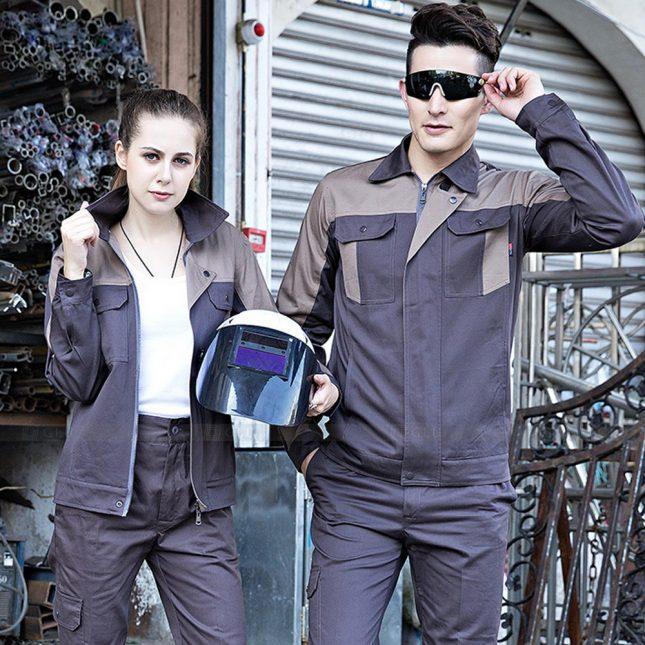 Quan ao dong phuc bao ho GLU X1051 đồng phục công nhân cơ khí