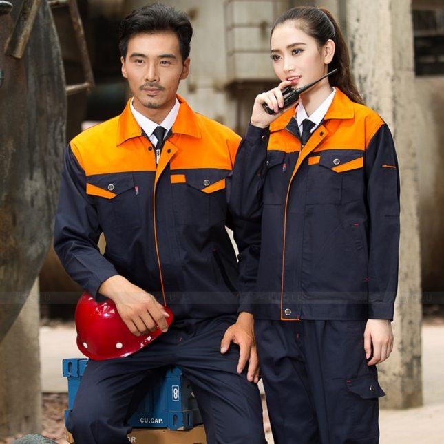 Quan ao dong phuc bao ho GLU X1052 đồng phục công nhân cơ khí