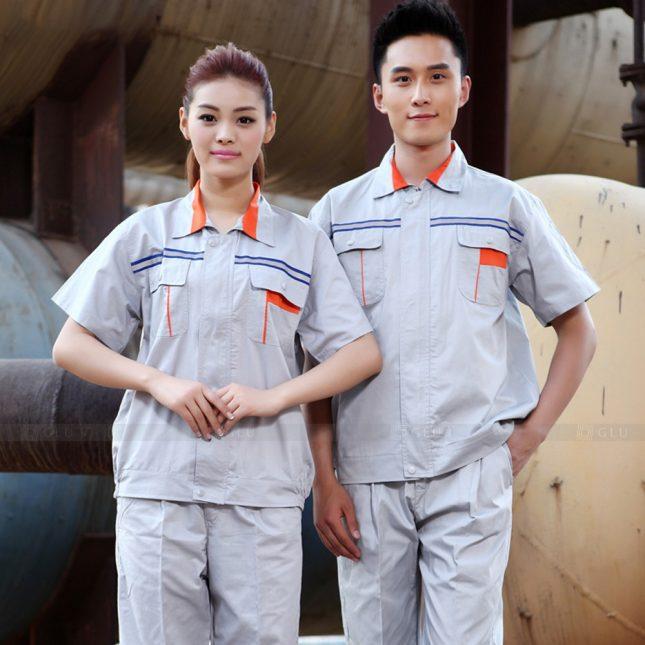 Quan ao dong phuc bao ho GLU X1055 đồng phục công nhân cơ khí