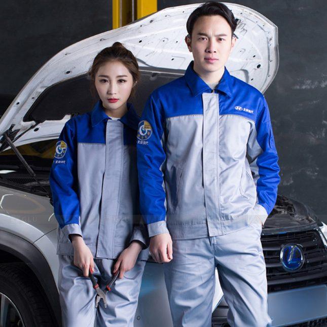 Quan ao dong phuc bao ho GLU X1058 đồng phục công nhân cơ khí