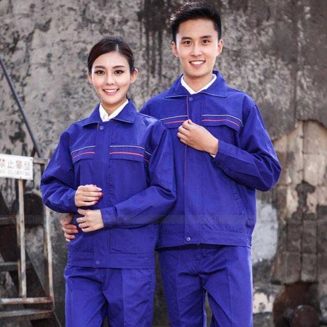 Quan ao dong phuc bao ho GLU X1074 đồng phục công nhân cơ khí