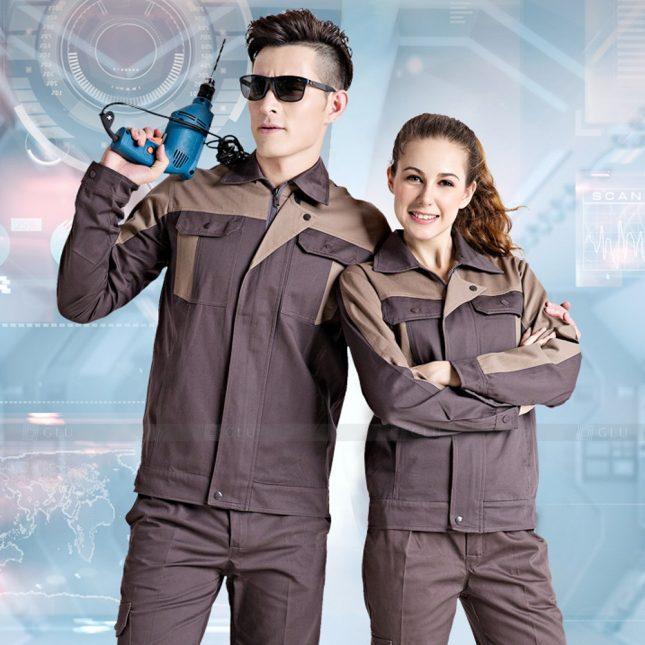 Quan ao dong phuc bao ho GLU X1079 đồng phục công nhân cơ khí