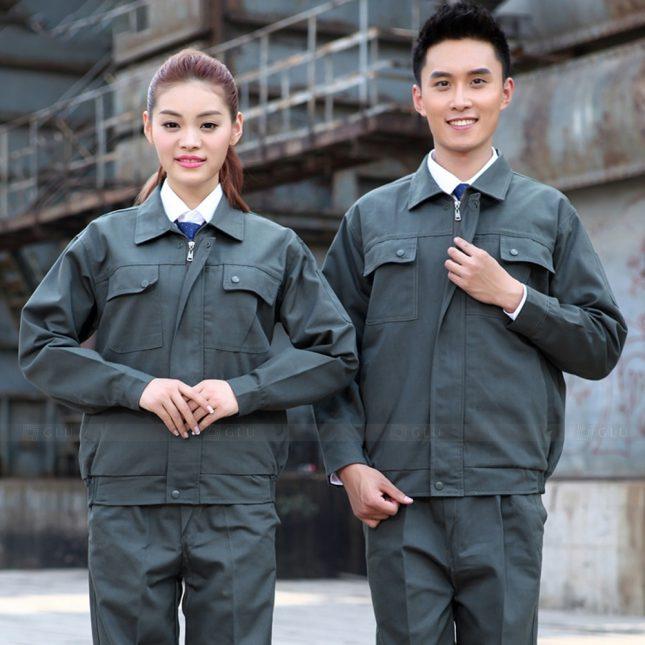 Quan ao dong phuc bao ho GLU X1082 đồng phục công nhân cơ khí